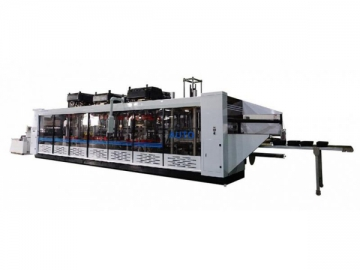DW4-63 High Speed Thermoforming Machine (Forming, Punching, Cutting, Stacking)
