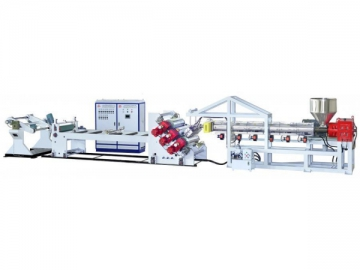 Plastic Sheet, Volumetric Inclined 3-Rolled Sheet Extrusion Line