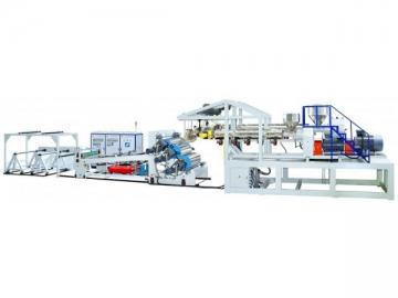 Plastic Sheet, Volumetric 3 Layer Sheet Co-extrusion Line