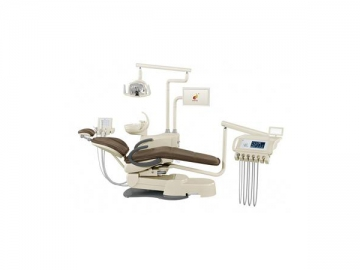 HY-E60 Dental Unit  Deluxe Version (integrated dental chair, multiple operating units, LED light)