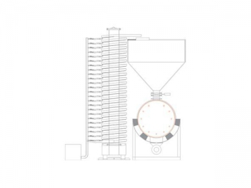 Spiral Vibratory Elevator Integrated Drying System