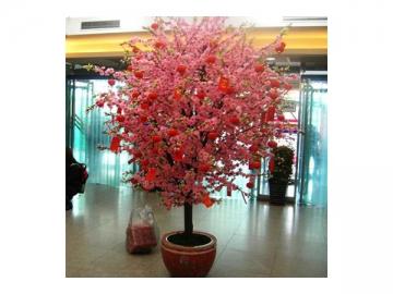 Artificial Plant Peach Blossom Tree
