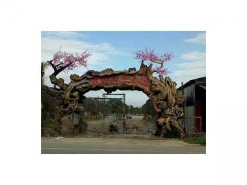 Artificial Concrete Tree