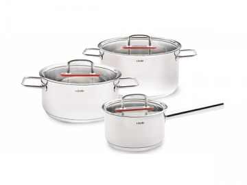 Stainless Steel Saucepan, Casserole with Glass Lid