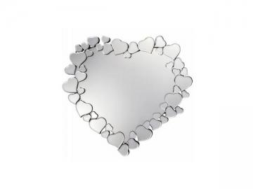 Heart Shape Fiberboard Framed Mirror