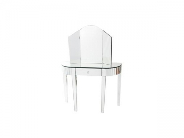 Makeup Vanity and Dressing Table with Glass Mirror