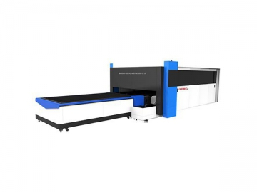 Integrated Tube and Sheet Fiber Laser Cutter with Full Cover Protection