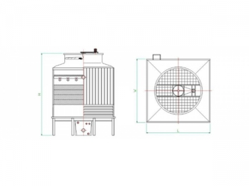FRP Counterflow Cooling Tower (Low Noise)