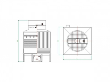 FRP Counterflow Cooling Tower (Ultra Low Noise)