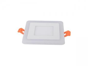 LED Recessed Downlight, Square Panel Fixture