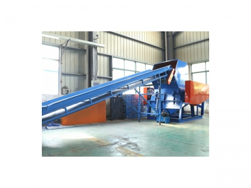 Non-ferrous metal separator for extracting metals from inert materials in plastic recycling plants