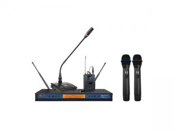 ER-5900 UHF True diversity twin receiver wireless mic system