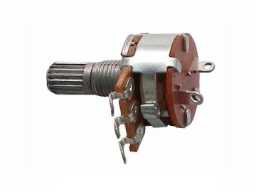 16mm Metal 500 ohm Knurled Shaft Potentiometer with Switch,WH148-K4-10