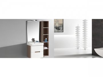 IL2306 Single Bathroom Vanity Unit with Mirror Light for Small Bathrooms