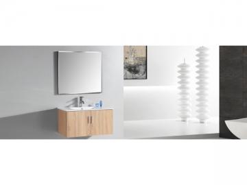 IL2548 Light Oak Floating Single Bathroom Vanity with Mirror