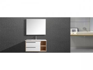 IL2601 Stylish Wall Mount Single Bathroom Vanity with Large Mirror