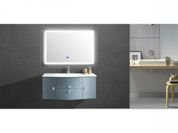 IL1905G Blue Bathroom Vanity Set with Lighted Mirror