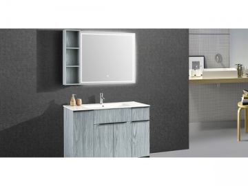IL-1954 Bathroom Cabinet Set with Rectangular Lighted Mirror