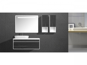 IL2607 Black Bathroom Vanity Set with Mirror