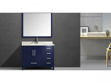 M6506 Matte Blue Bathroom Vanity with Framed Mirror
