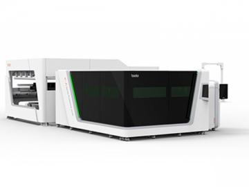 Full Covered Laser Cutting Machine with Automatic Loading System P-A