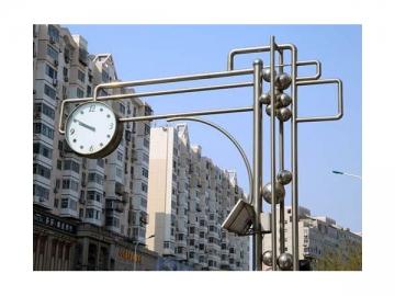 Solar-Power Outdoor Street Clock