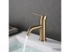 Single handle brushed gold basin faucet  SW-BFS011
