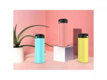Portable Stainless Steel Vacuum Flasks Thermos Coffee Water Bottle Business Travel Bottle