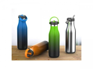 Stainless Steel Water Bottle with Handle Sports Bottle with Flip Straw