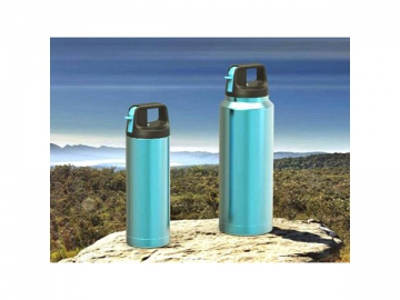 Stainless Steel Vacuum Thermal Insulated Bottle with Straw Lid Portable Large Capacity Sports Bottle