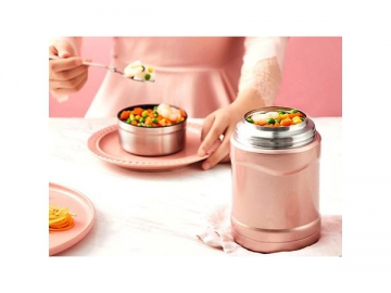 Stainless Steel Food Canister Leak-Proof Thermal Insulated Food Jar