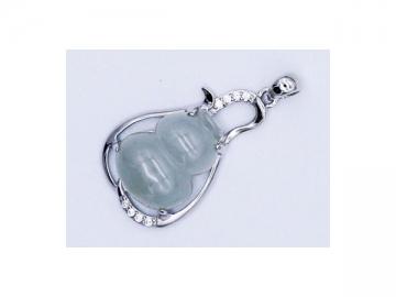 Jade Gourd Pendant, Female Necklace Jewelry