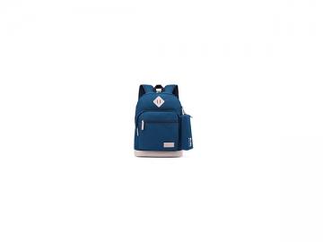 CBB2835-1 Canvas School Bag with Pencil Case, 27*12*38cm Kids' School Backpack